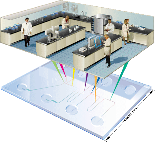 lab on a chip Science objectives for everyone lab-on-a-chip application development-portable test system (locad-pts) is a handheld device for rapid detection of biological and chemical substances on surfaces aboard the space station.